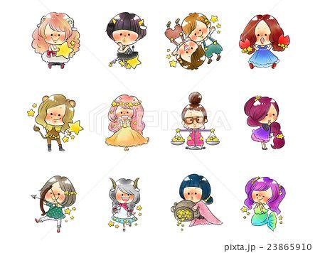 イラスト おしゃれまとめの人気アイデア Pinterest Shiraishikanako 12星座 星座 かわいいイラスト
