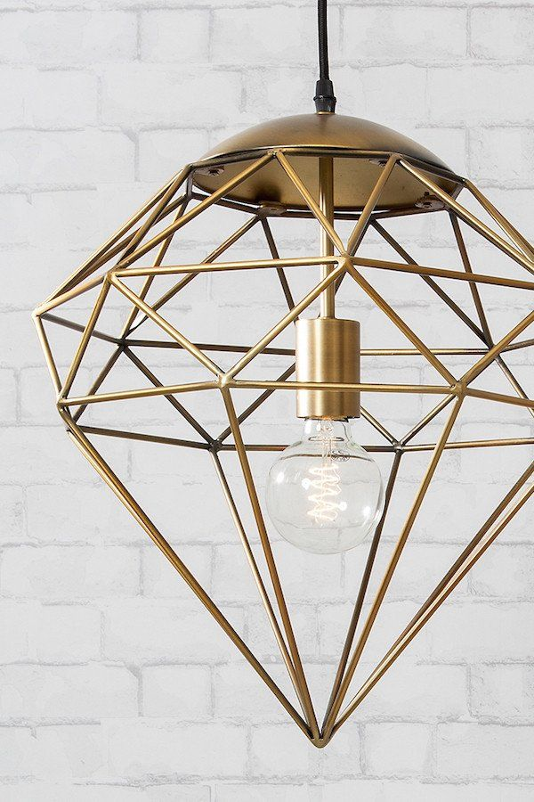 The Franklin Pendant Light Would Make A Stunning Addition To Any Living  Space. The Unique Diamond Shade Has A Stylish Metal Frame Finished In An  Antique ...