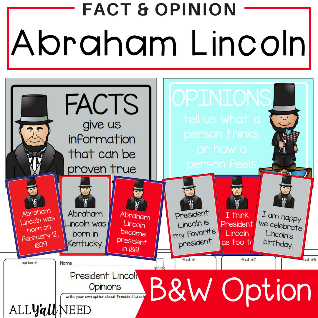 Abraham Lincoln Fact And Opinion
