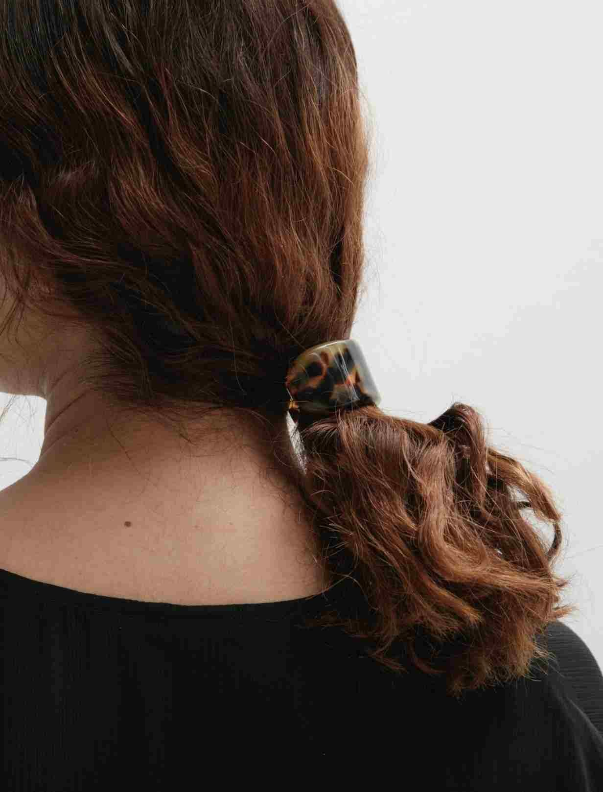 handmade leather accessory women Hair Accessory beige hair fashion small Leather French hair clip  barrette Tooled Leather Hair Clip