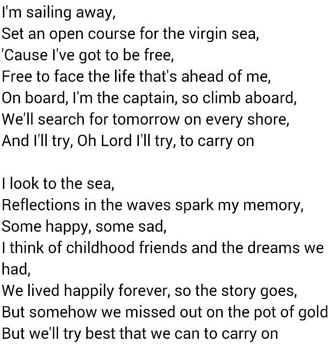 Come Sail Away - Styx | Song Lyrics | Pinterest | Songs and Movie