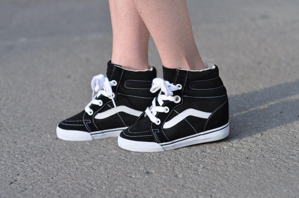 vans sk8 hi wedge sneakers