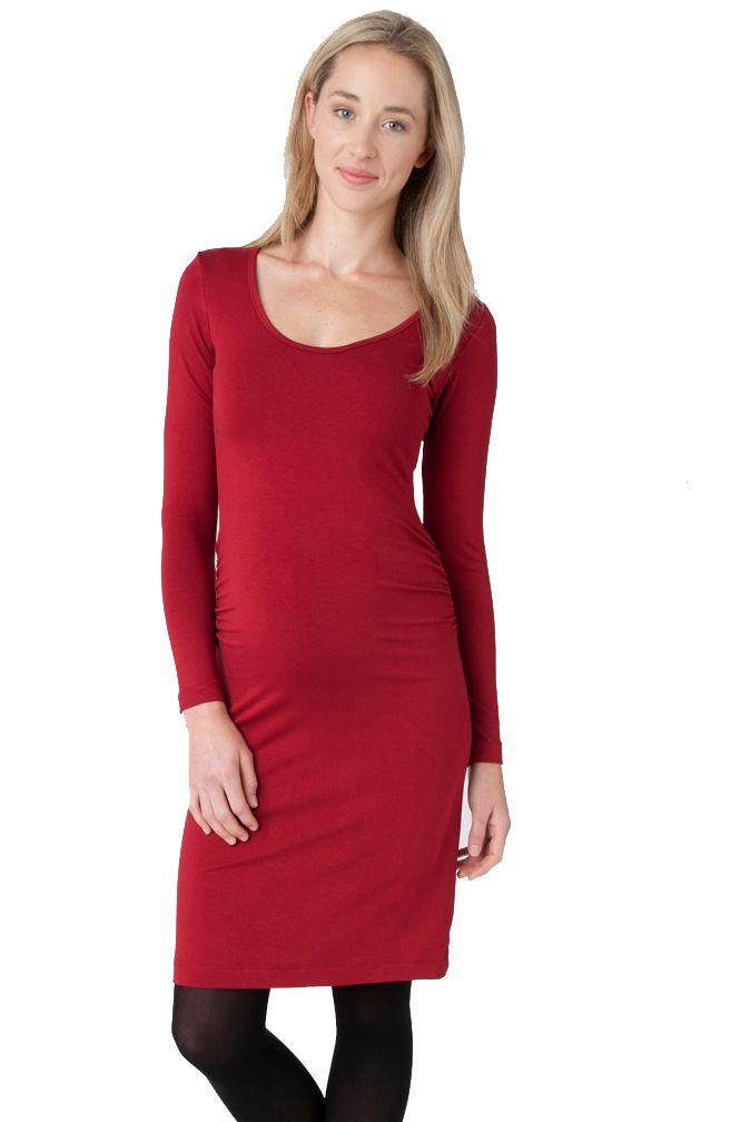 9aa91e55ca Ripe Maternity Van Tate Long Sleeve Tube Bodycon Dress