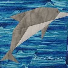 dolphin quilt pattern free - Google Search | Quilts Wall hanging ... : dolphin quilt - Adamdwight.com