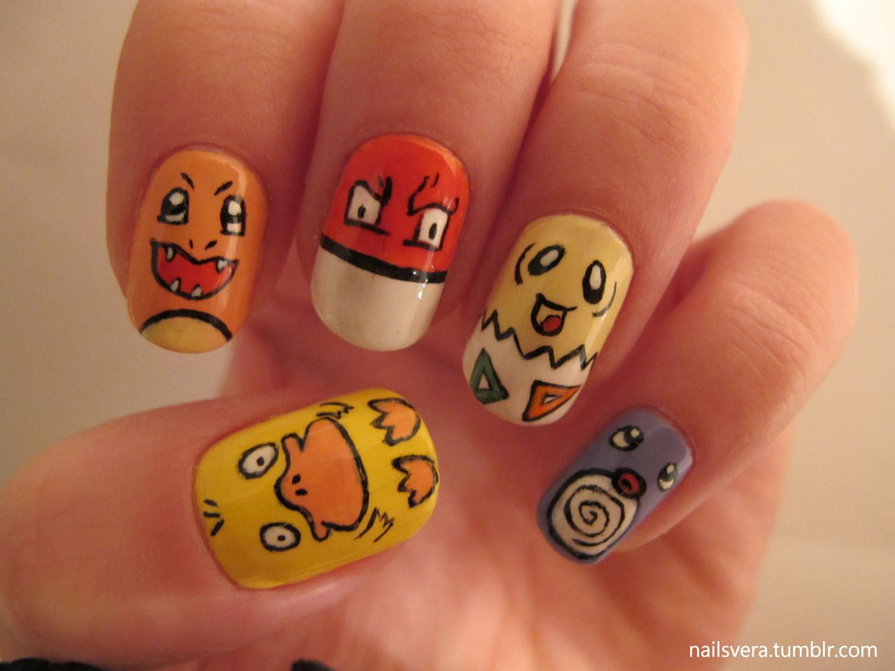 Pokemon nails :D | Gamer nail art | Pinterest | Nail nail, Beauty ...
