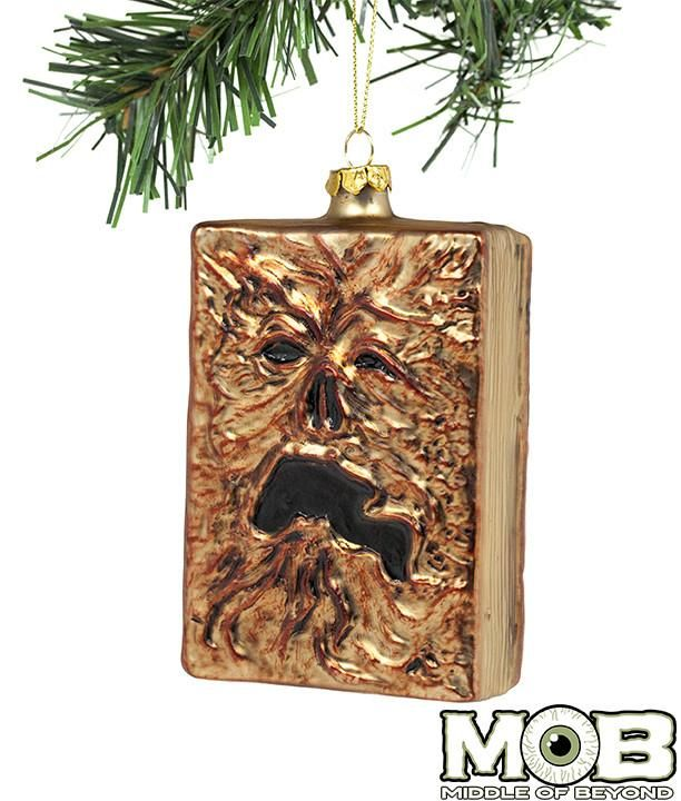 Evil Christmas Tree: Evil Dead 2 Necronomicon Glass Ornament