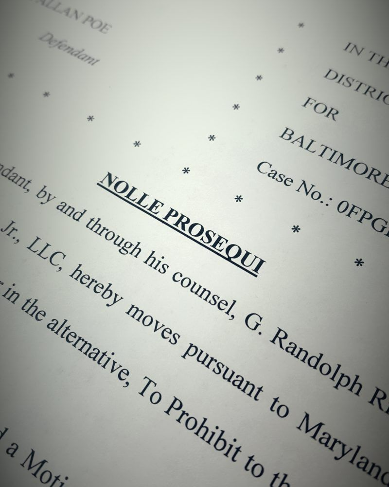 Nolle Prosequi Explained For Maryland Criminal Cases Criminal