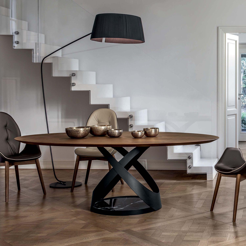 Tavolo Rotondo Vetro Design.Capri Tavolo Rotondo Tavoli Da Pranzo In Marmo
