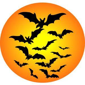 halloween bat moon clipart vleermuizen pinterest rh pinterest com full moon clipart jpg free clipart full moon