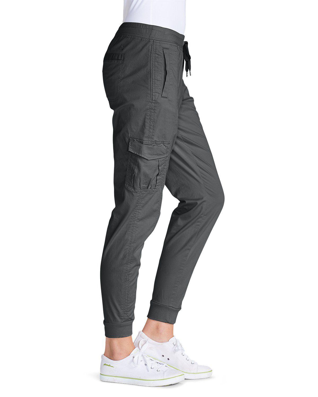 Eddie Bauer Women/'s Capri Jogger Heather Charcoal Grey X-Large