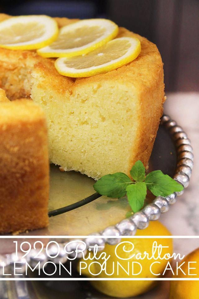 1920 Famous Ritz Carlton Lemon Pound Cake Recipe is the one for you! This dense, old-fashioned butt