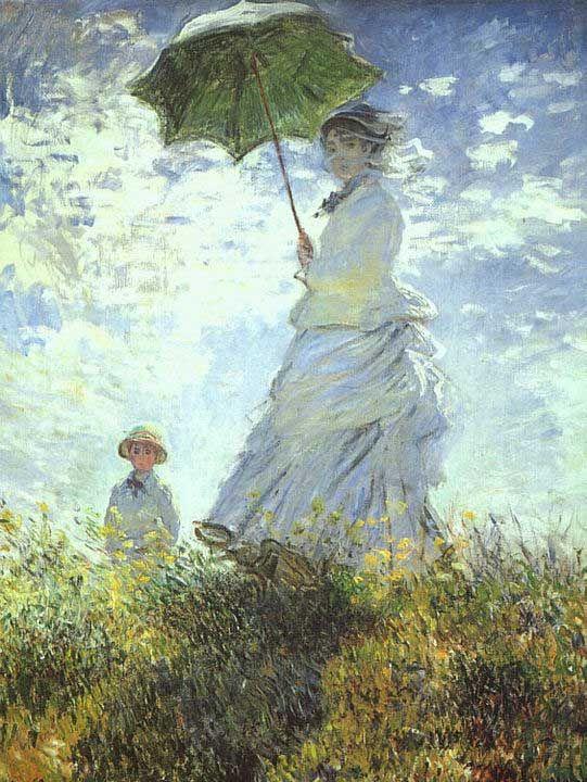 Impressionismo - Monet - guarda chuva