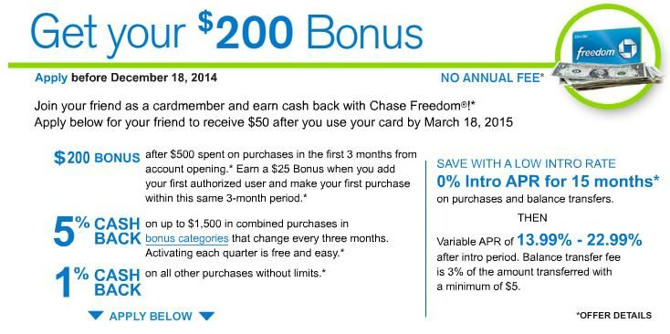 Last Days For The Chase Freedom Refer A Friend Offer Chase