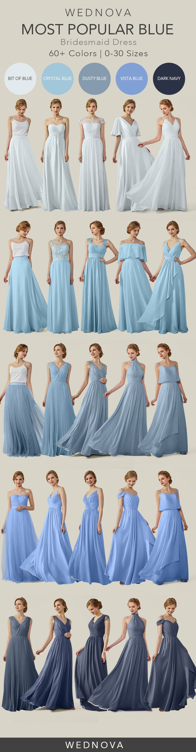 unique chiffon bridesmaid dress blue off the shoulder dress