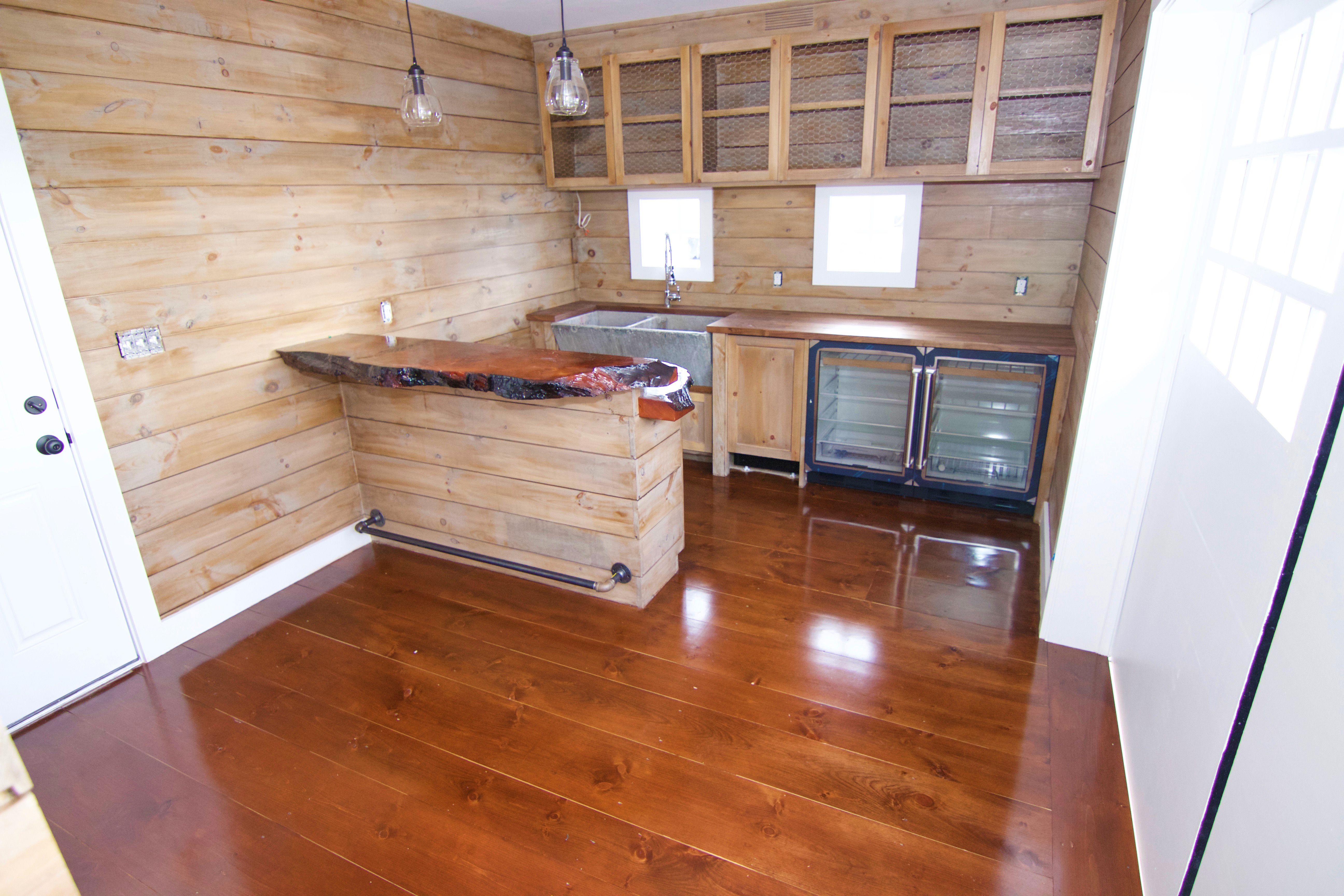 Eastern White Pine Stained With Minwax English Chestnut
