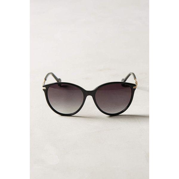 ett:twa Jasmi Sunglasses ($58) ❤ liked on Polyvore featuring accessories, eyewear, sunglasses, black, ett twa, black glasses, acetate glasses, acetate sunglasses and black sunglasses