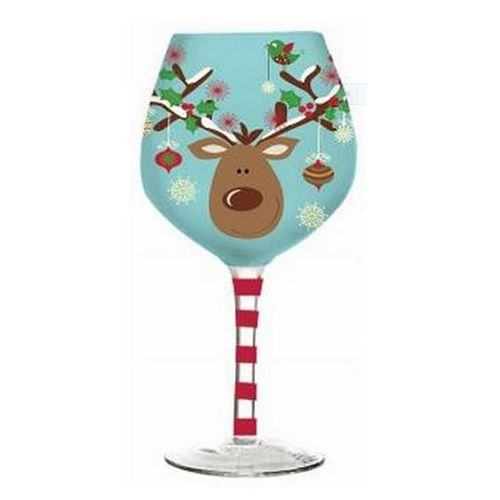 Hand painted christmas wine glasses bing images for Hand painted wine glass christmas designs