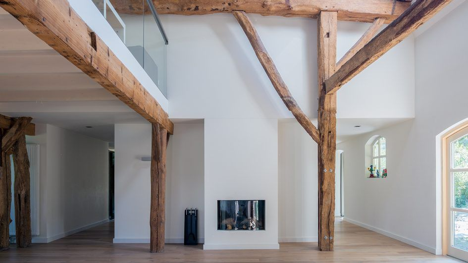 Badkamer woonkamer deco paarse open trap dichtmaken artikill