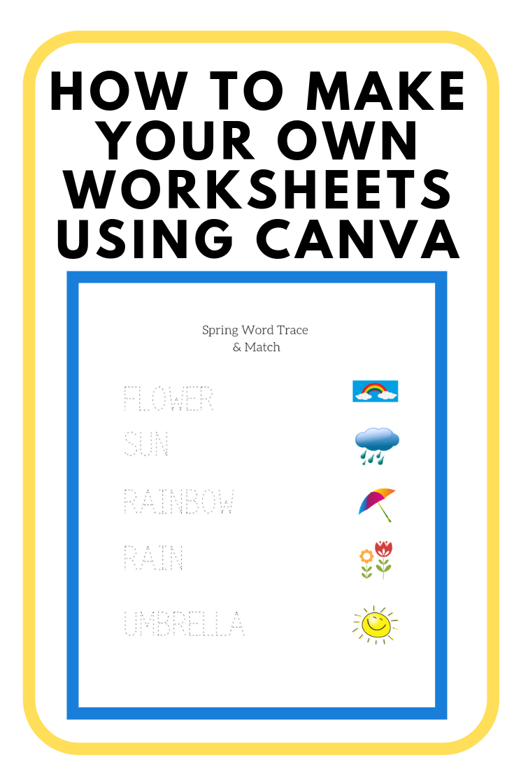 How To Make Your Own Worksheets Using Canva Kindergarten Math Worksheets Free Kindergarten Math Worksheets Canvas Learning Management System [ 1102 x 735 Pixel ]