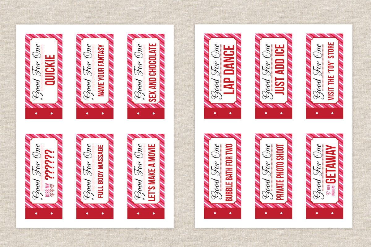 Naughty coupon book printable