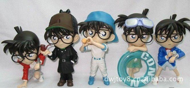 大玩家玩具_动漫手办玩具批发 名侦探 1代5款柯南 模型摆件 - 阿里巴巴