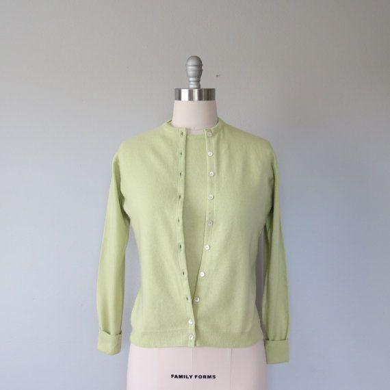 60s cashmere twinset size medium / vintage by SwanSongVintage1 ...