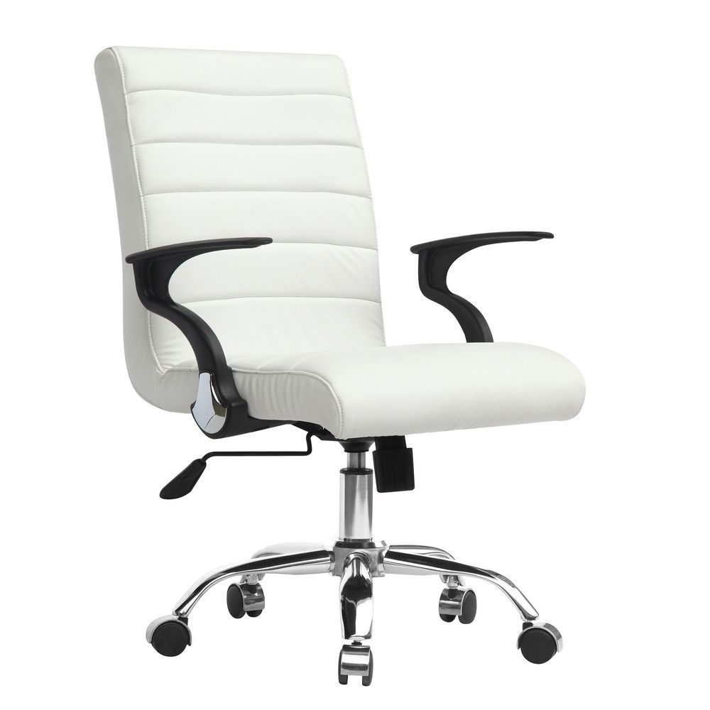 Fine Mod Imports Timeless Office Chair Contemporary Office Chairs White Office Chair Office Chair