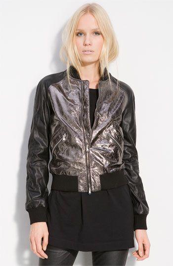 Discount Original Recommend Metallic Leather Bomber Jacket Balmain Px86fW2