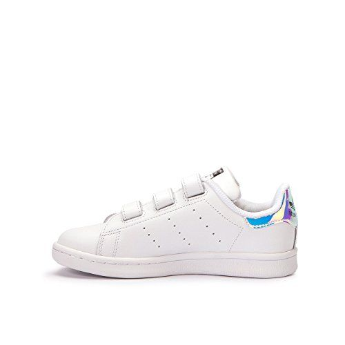 Adidas Little Kids Stan Smith silver metallic silver footwear white Size 2  US    Check this awesome product by going to the link at the image. bbe2b7e05