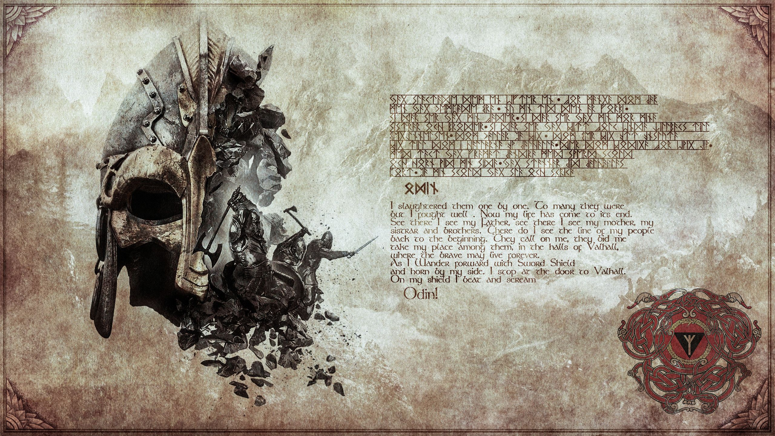 Res 2560x1440 Valhall 2560 X 1440 By Enstorsnustack Valhall 2560 X 1440 By Enstorsnustack Viking Runes Viking Wallpaper Vikings