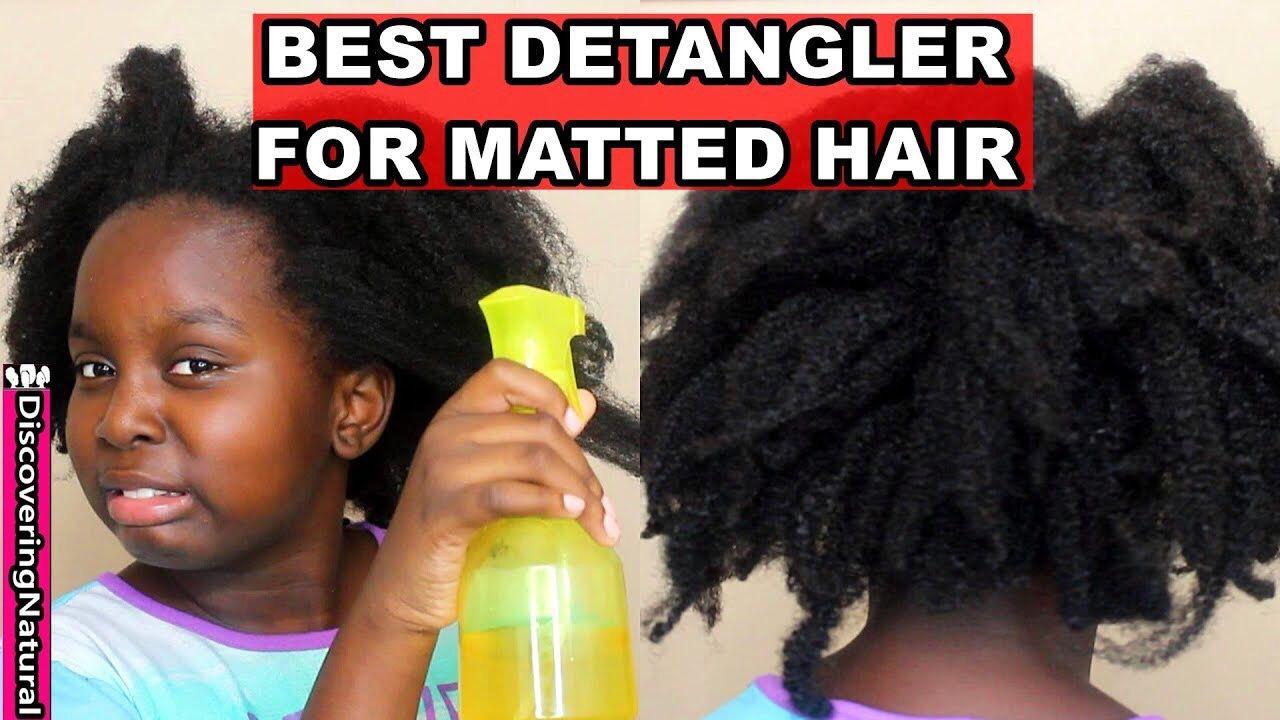 Simple Diy Detangler Matted Hair Diy Hair Detangler Detangling Natural Hair