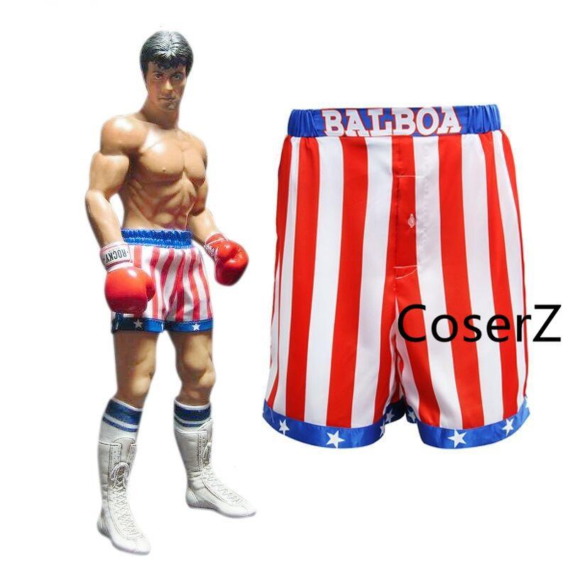 Rocky Balboa Apollo Movie Boxing American Flag Cosplay Shorts Robe Boxing Costume Robe And Shorts Short Robe American Flag Shorts Costumes