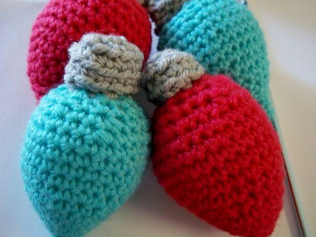 Mysistersknitter S Christmas Bulbs Crochet Christmas Lights Christmas Crochet Patterns Christmas Crochet