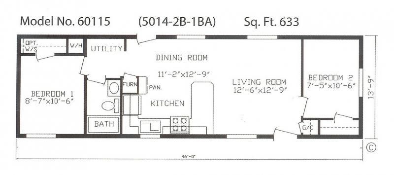 14 X 46 Best Mobile Home Plan Google Search Floor Plans Mobile Home Floor Plans House Floor Plans