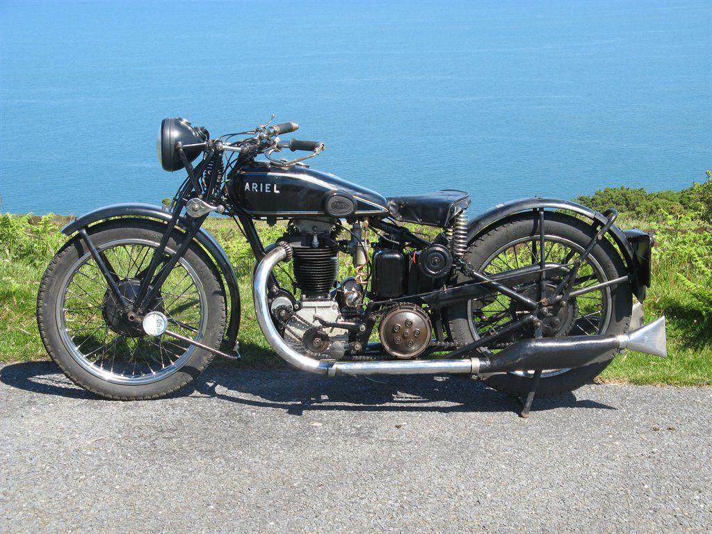 Ariel 1930 Model G Bike Motorcycle Riding