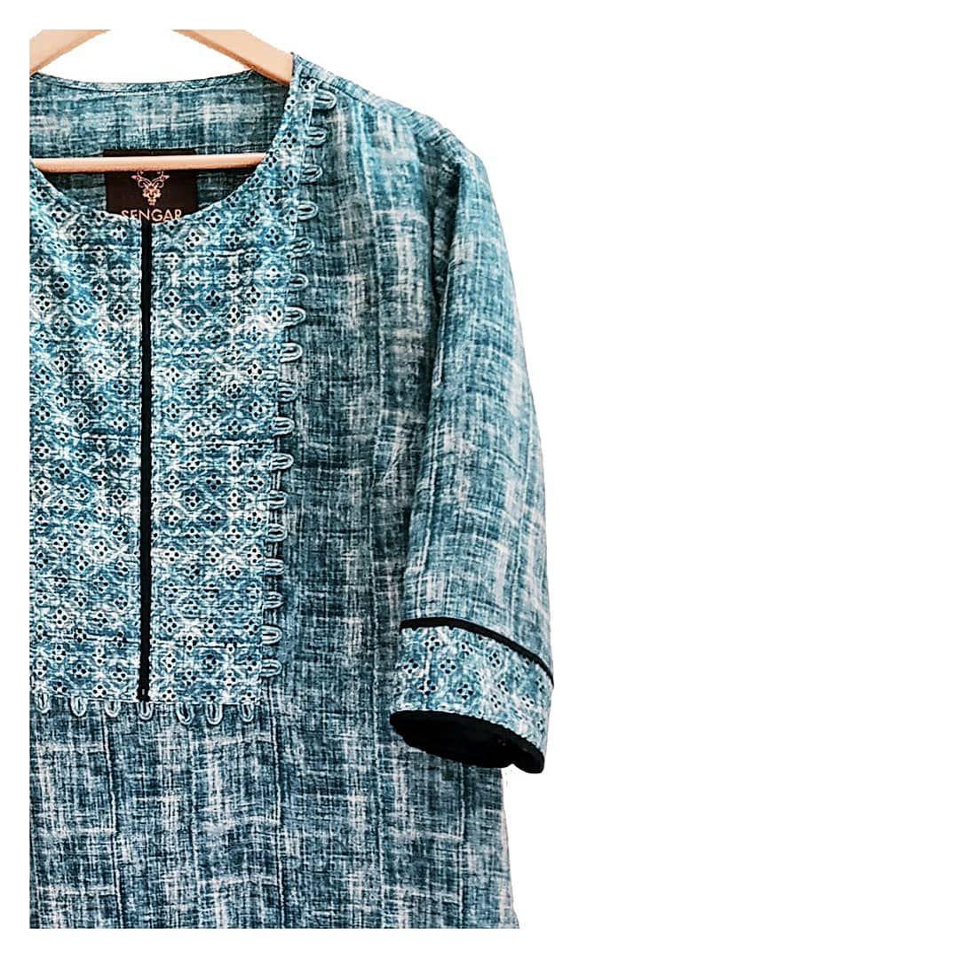 Photo of SENGAR | Menswear  Kurta | Chanderi silk  Handcrafted print in Indigo | Natural …