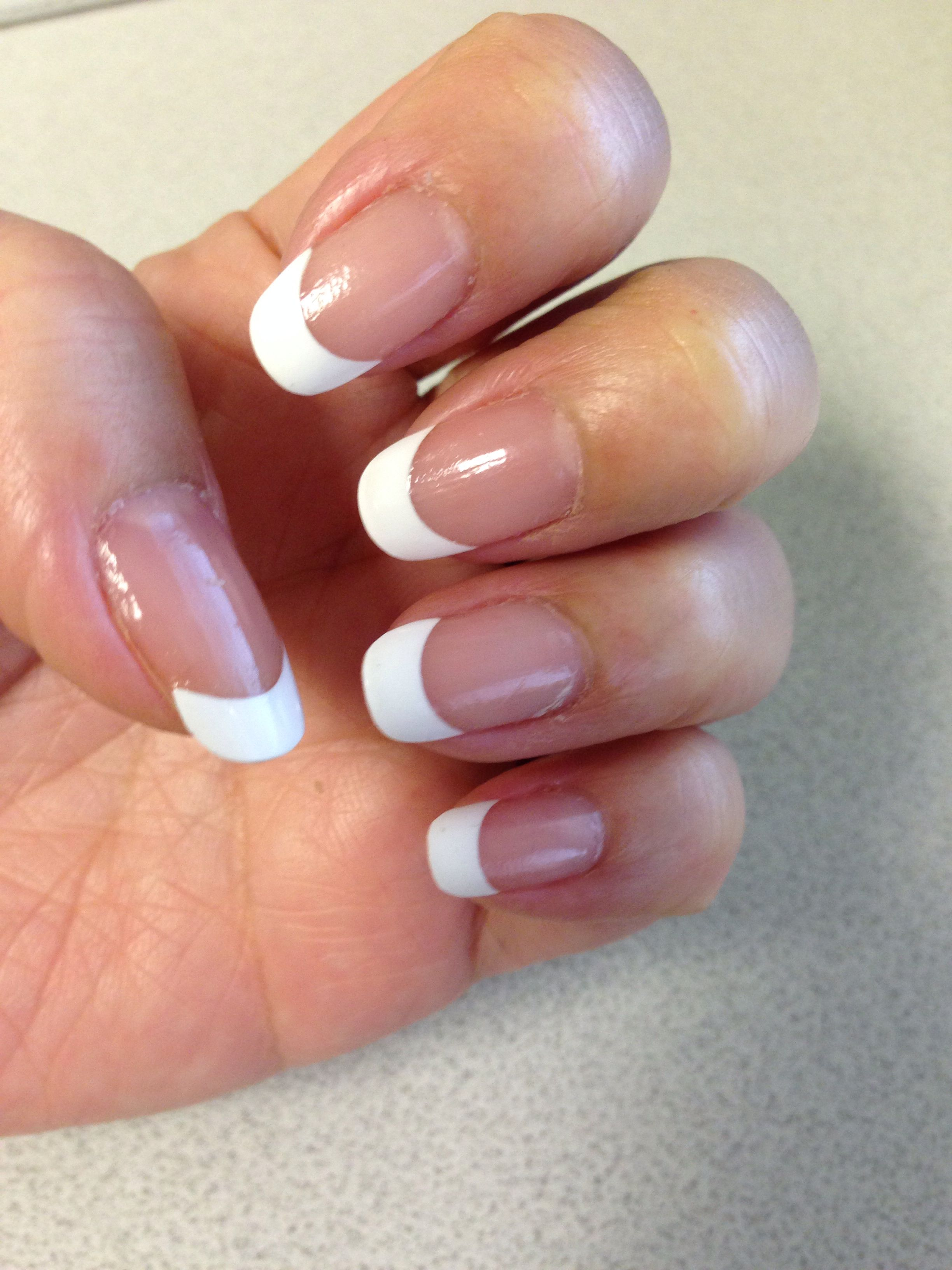 First attempt with french tip nail wraps... \