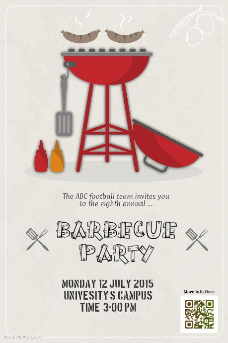 Barbecue party flyers template http://www.postermywall.com/index.php ...