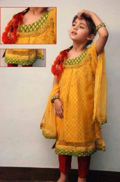 Ladies Mehndi Party : Very cute mehndi dress for girls kids clothes