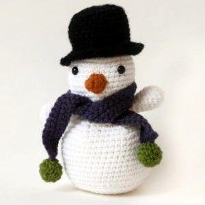 Bonhomme de neige mod le crochet gratuit noel bonhomme de neige crochet modele crochet - Modele bonhomme de neige ...