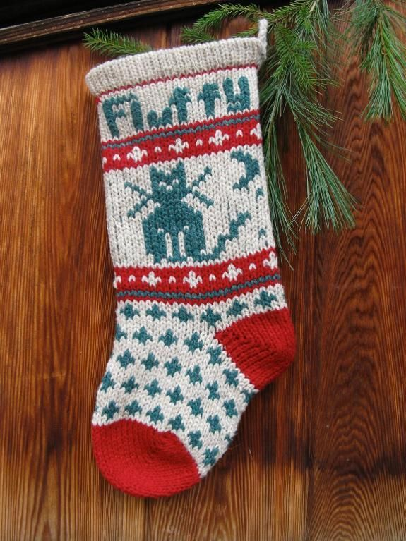 Pet CAT Christmas Stocking Pattern | Christmas Knits | Pinterest