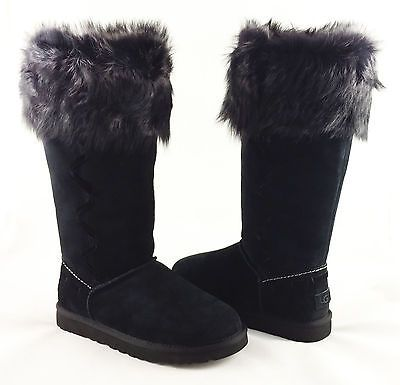 472024f8084 UGG Australia Rosana Black Toscana Fur Boots Womens 7 *NEW IN BOX ...