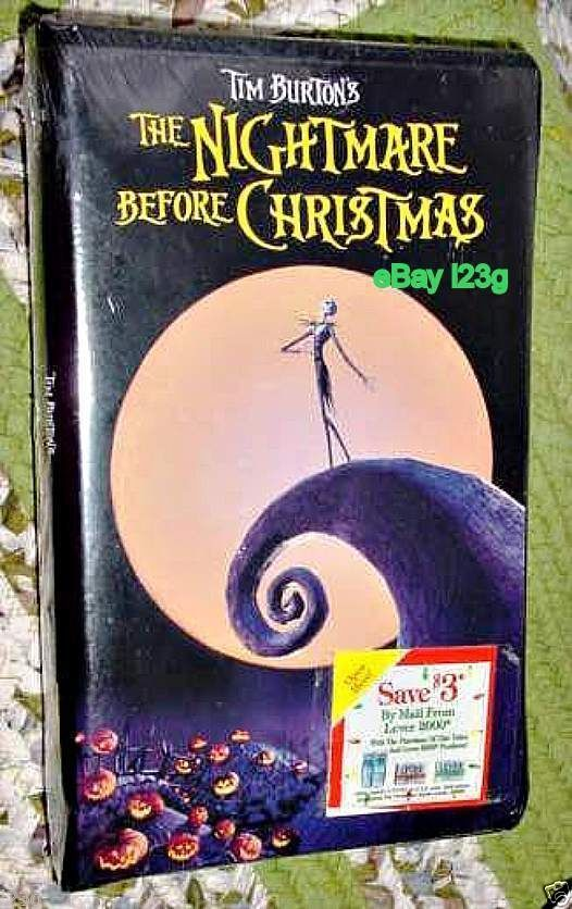 NEW! Nightmare Before Christmas Movie VHS Tape Tim Burton Disney ...