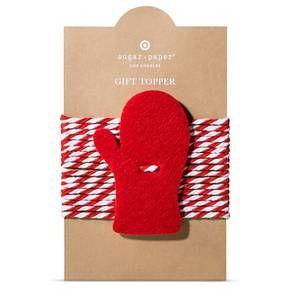 Sugar Paper Felt Mitten Tie On Gift Topper