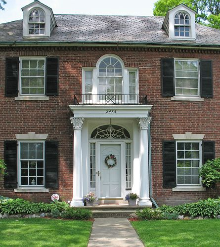 Palladian Windows Open On To A Balconet Topped Portico Copper Gutters Bonus Palladian Window Portico Design Different House Styles
