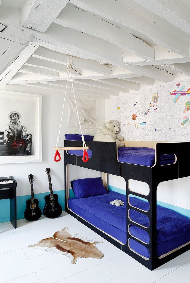 One Of The Coolest Bunk Beds Around And I Love It In Black Bed