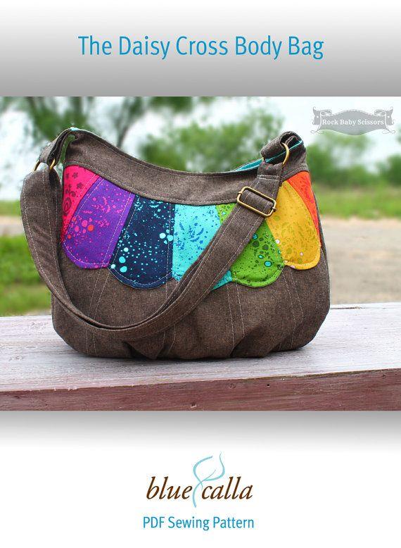 The Daisy Cross Body Bag PDF Sewing pattern | Kleine Nähprojekte ...