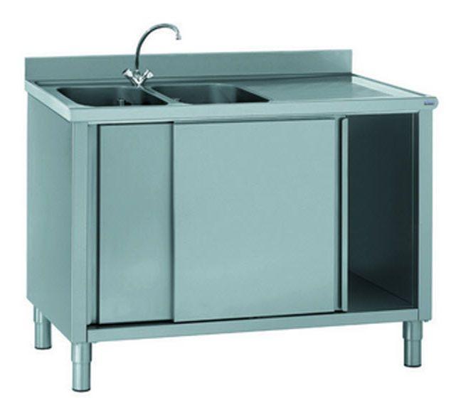 Commercial kitchen pedestal sink cabinet 806 794 Tournus ...