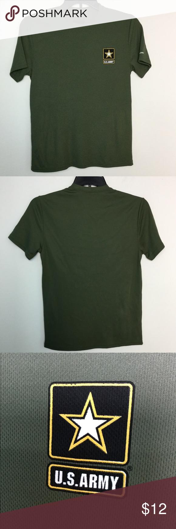 U S Army S Shirt Dri Fit Green Tee Men S Top Euc Mens Tees Army Shirts Dri Fit