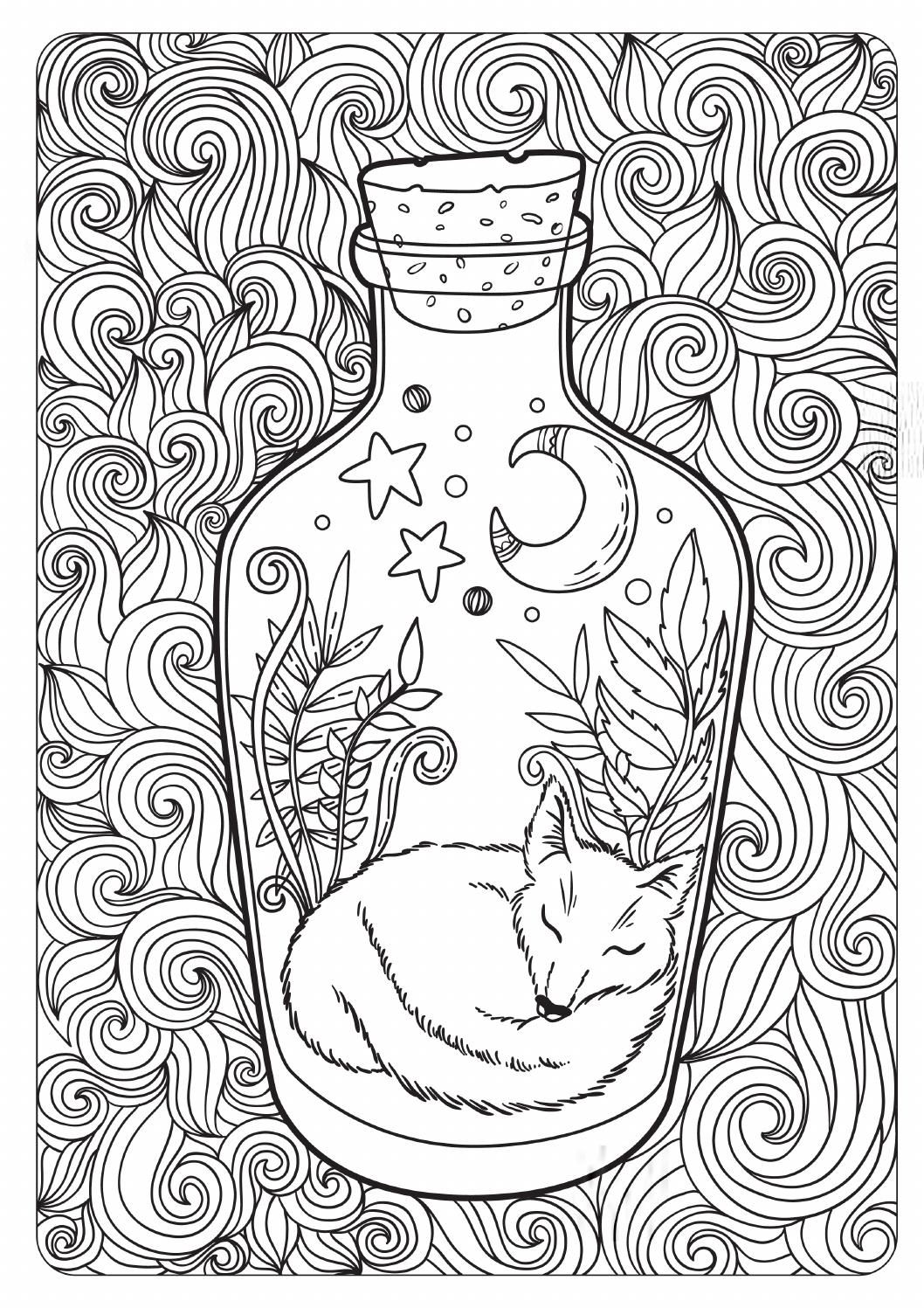 The Tales Of Old Forest Antistress Coloring Coloring Pages
